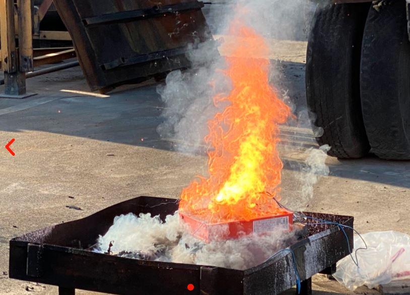 Brand wird ausgelöst