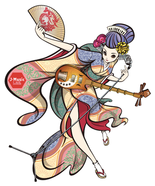 """J-Music LAB"" Image character (Design:SUTEKI Inc.)"