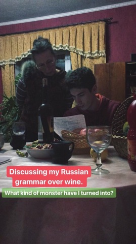 I had to try to explain Russian grammar in Russian. It was slightly terrible.