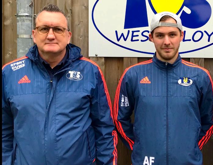 Bilden das neue Trainergespann beim TuS Westerloy: Rolf Schomaker & Andre Fandrich
