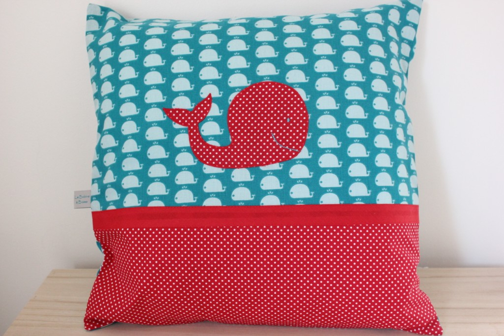 Coussin motif Baleine (Exemple)
