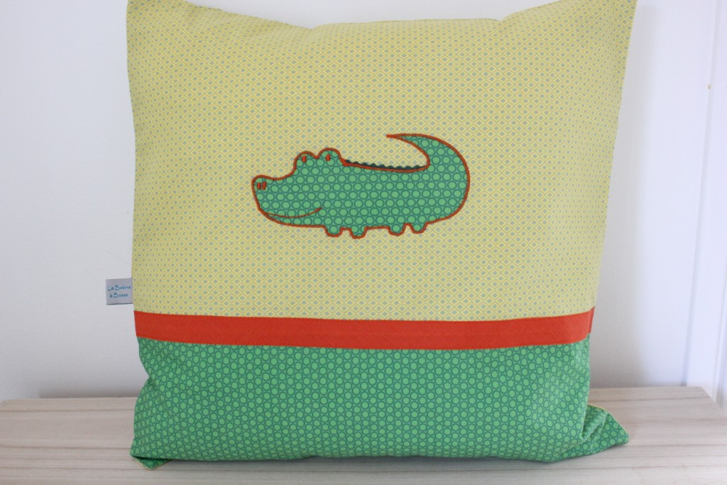 Coussin motif Crocodile (Exemple)