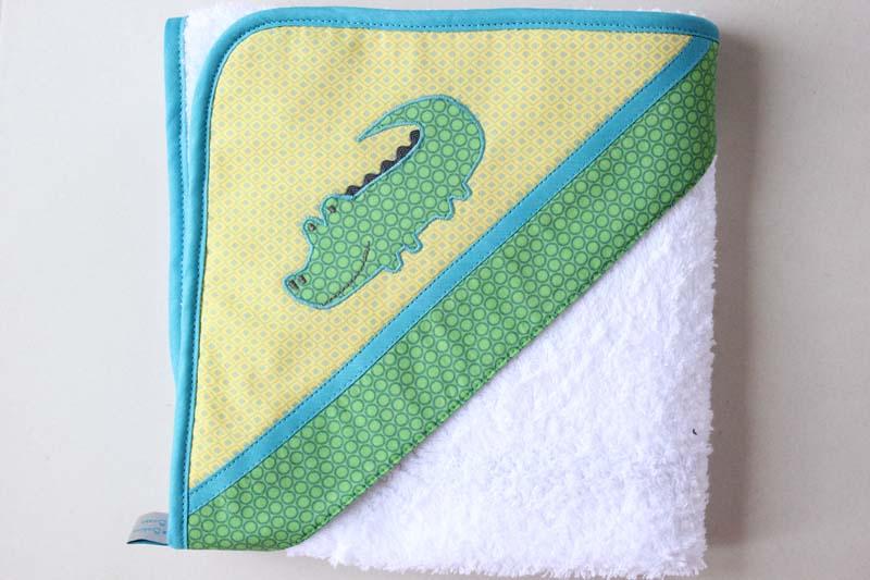 Sortie de bain motif Crocodile (Exemple)