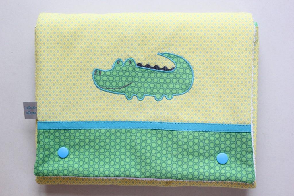 Matelas à langer nomade motif Crocodile (Exemple)