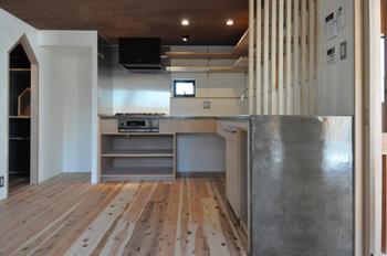 設計施工之コータロー モルタル製キッチン