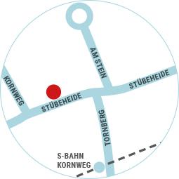 Lageplan von Tom's Eis in Klein Borstel
