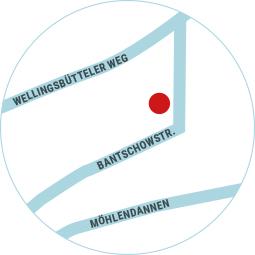 Lageplan der Physiotherapie und Ostheopathie - Praxis Meike Zanger-Hoffmann