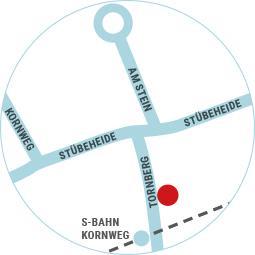 Lageplan von Mo's Tabakshop in Klein Borstel