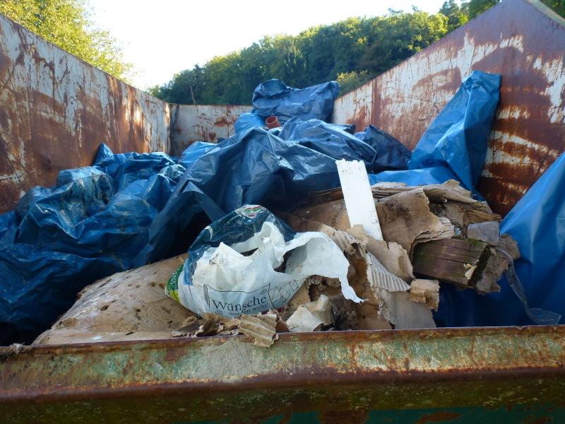 Und das ist das Ergebniss von 3 Stunden Sammelwut -8 m² gesammelter Müll³