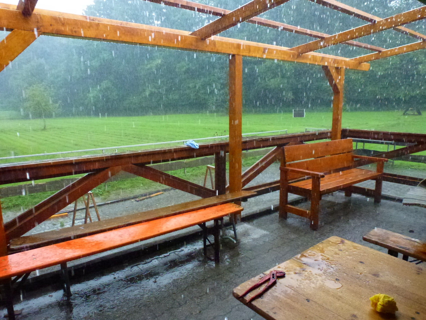 Wenn schlechtes Wetter ist kommt noch ein Regenschauer dazu