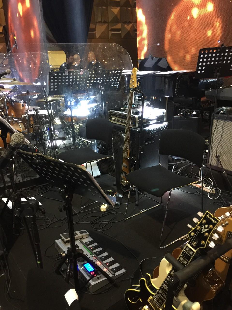 Concerto di Natale 2015 (Canale 5) la mia postazione