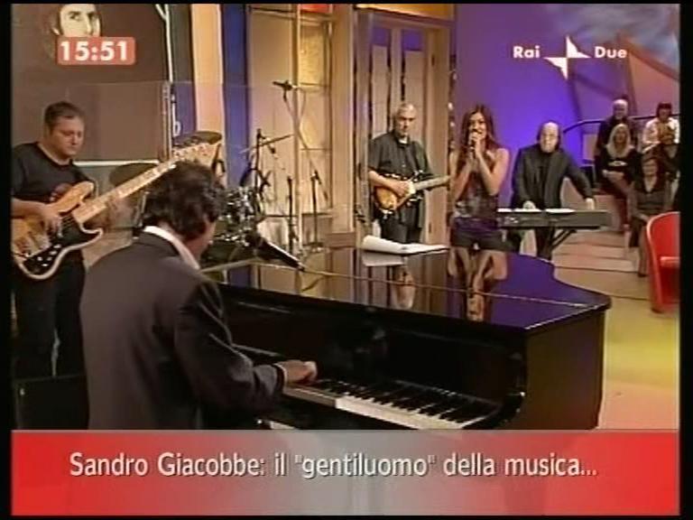 Rai Due con Sandro Giacobbe, Fio Zanotti e Roberta Lanfranchi