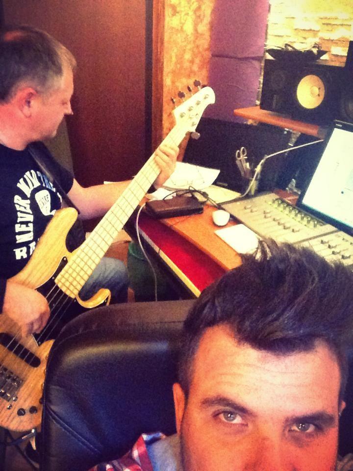 in studio di registrazione per Daniele Vit (Xotic  XJ-1T)