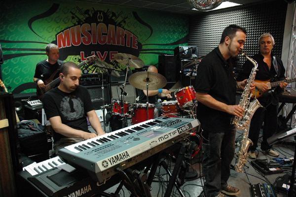 ShowCase a MUSICARTE con Fabrizio Foggia (piano), Carlo Micheli (sax), Andrea Ruta (batteria), Alfredo Bochicchio (chitarra)