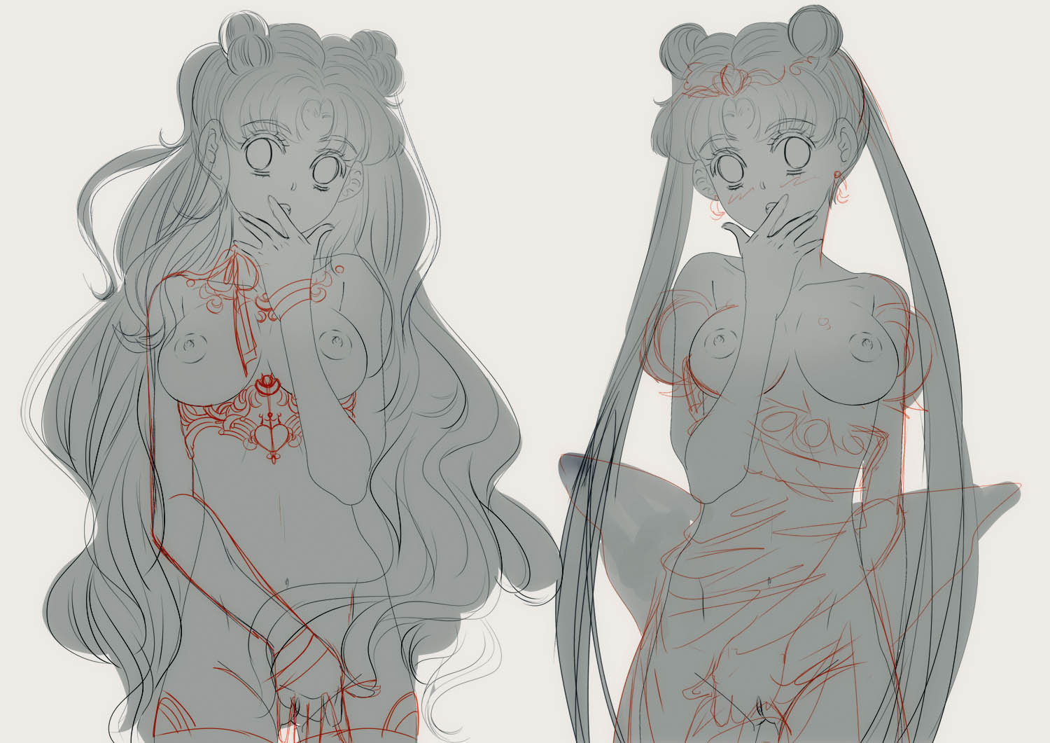 Work in Progress Luna and Serenity