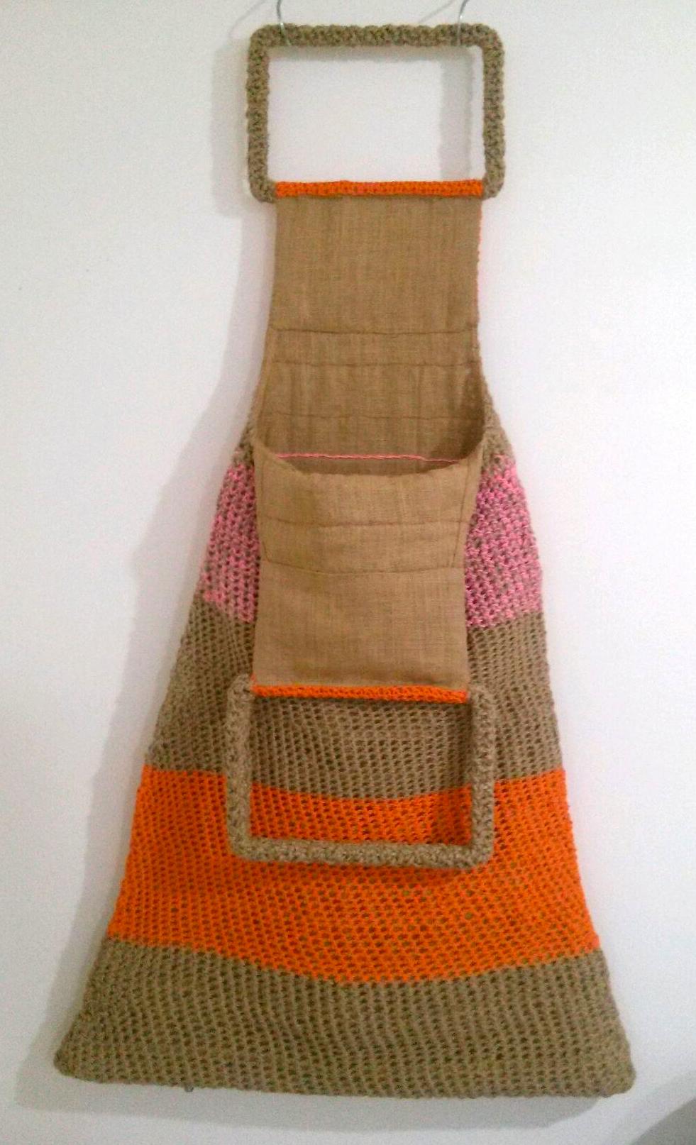 Sac de ménagère, ficelle et drisses au crochet - 1971