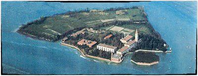 una foto aerea dell'isola