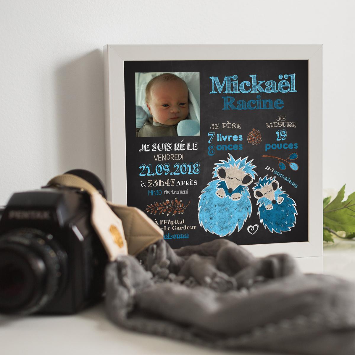 Affiche de naissance