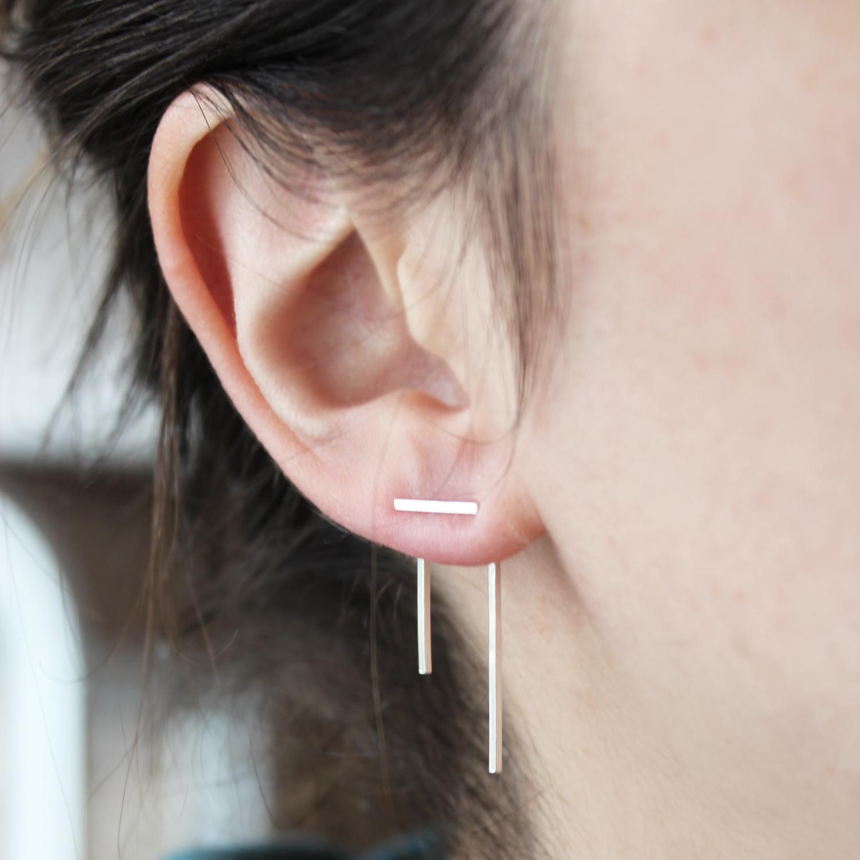 Ear jackets barres fines