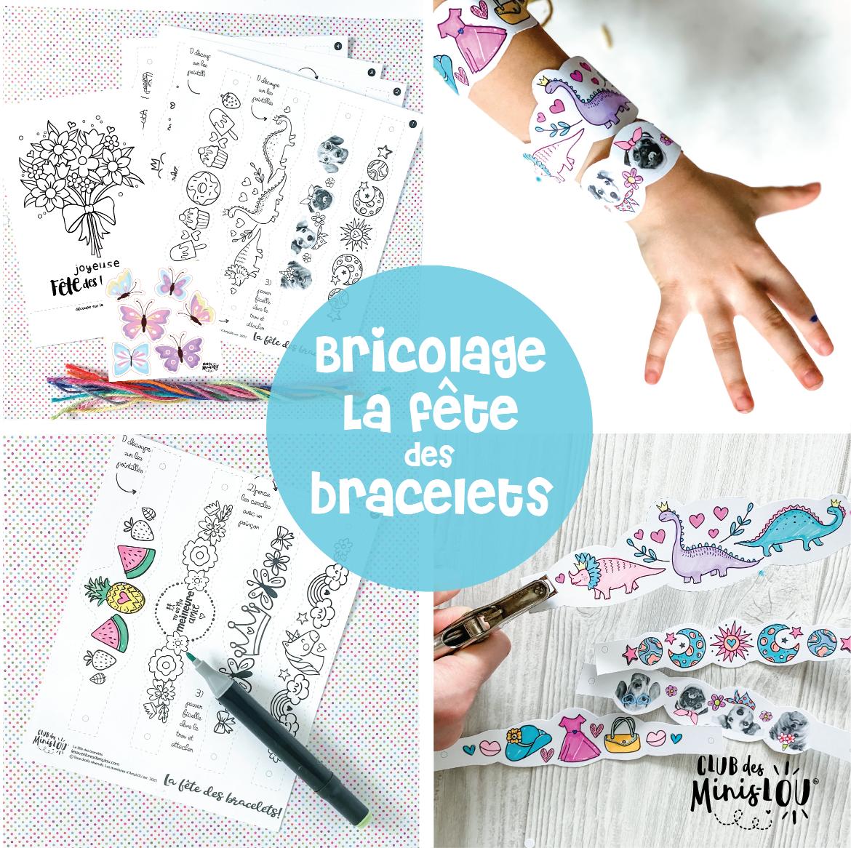 Ensemble de 16 bracelets-KIT BRICOLAGE