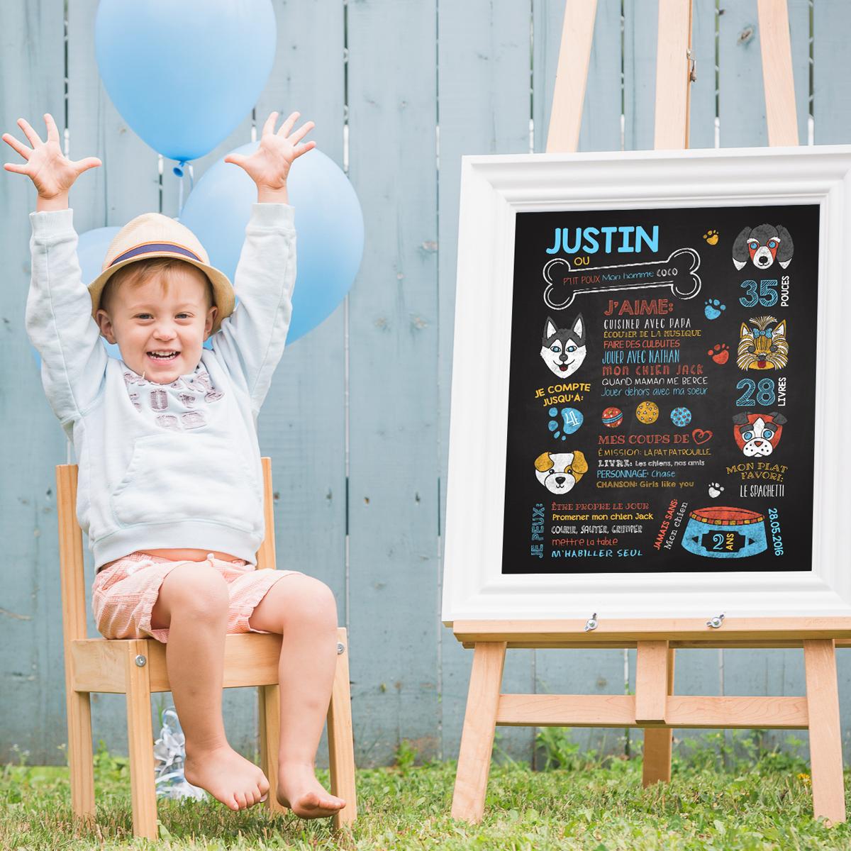 Affiche anniversaire pour enfant