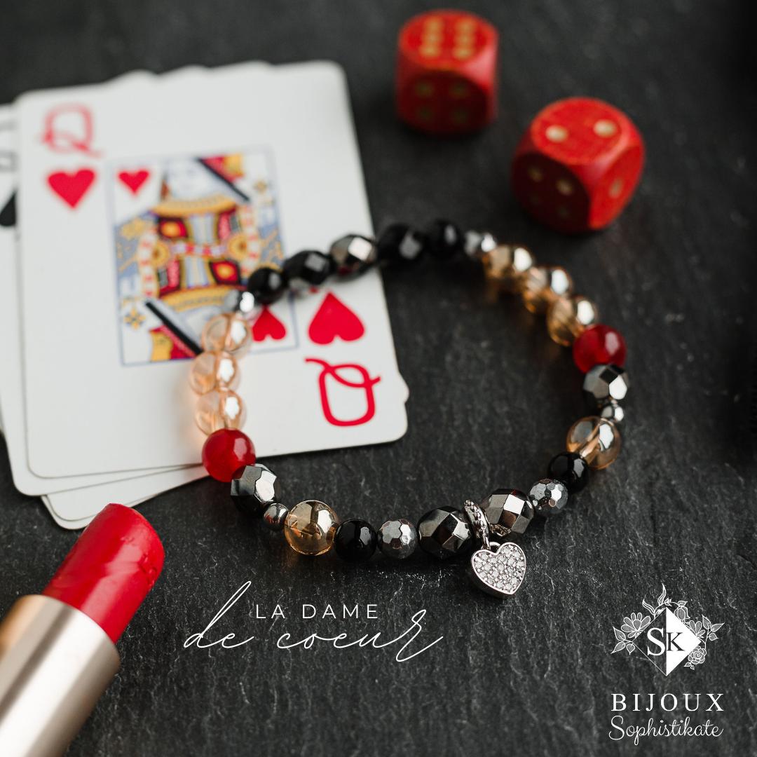 Bracelet de la Dame de coeur. Crédit photo : Sophie Gélinas photographe