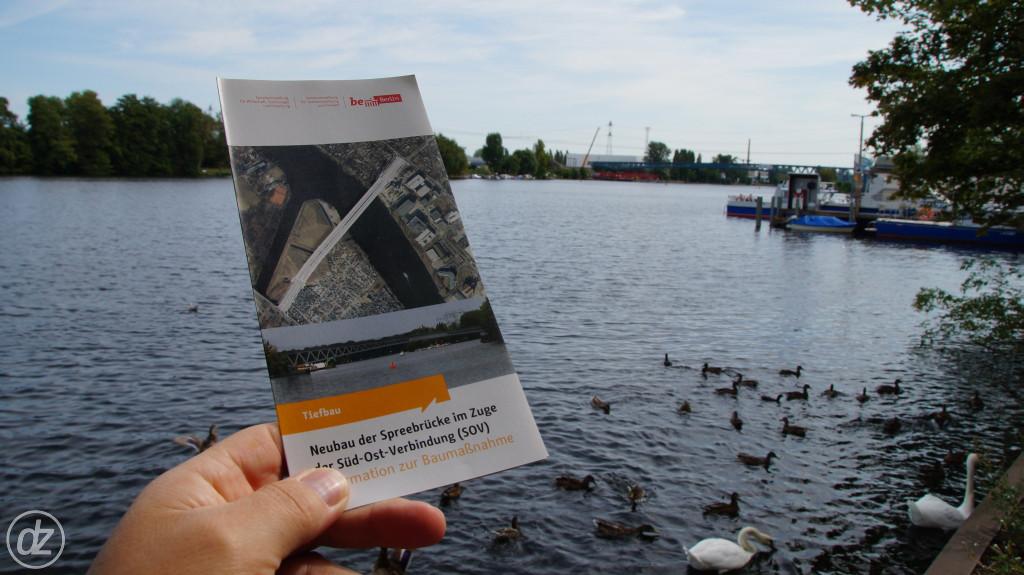 besagter Flyer - hinten die neue Brücke | Foto: © detlefzabel.de