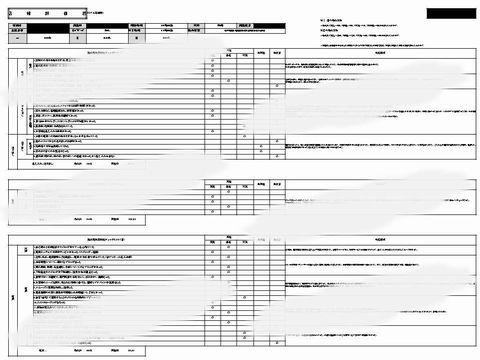 ミステリーショッピング 報告シート例