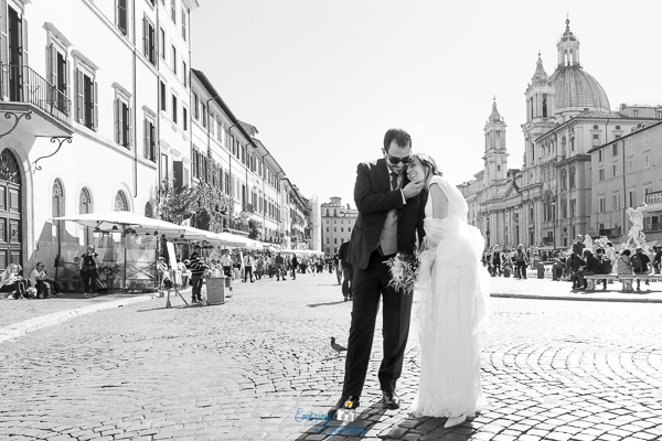 Piazza Navona, matrimonio a Roma