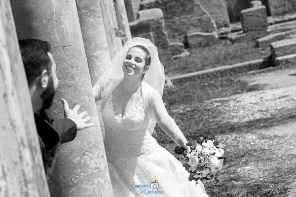 Fotografie degli sposi, Ostia Antica, Roma
