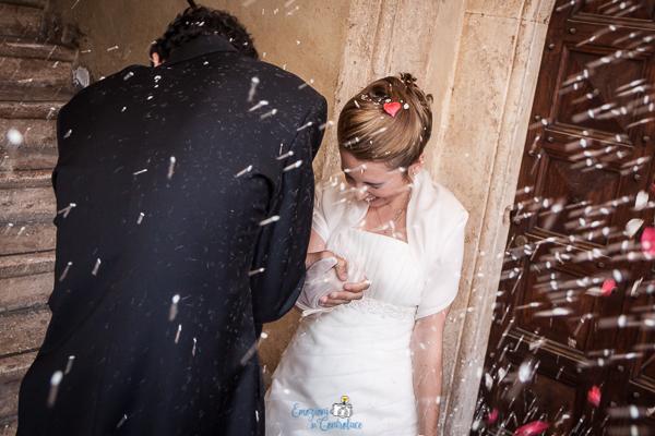 Lancio del riso a Pienza, matrimonio in Toscana