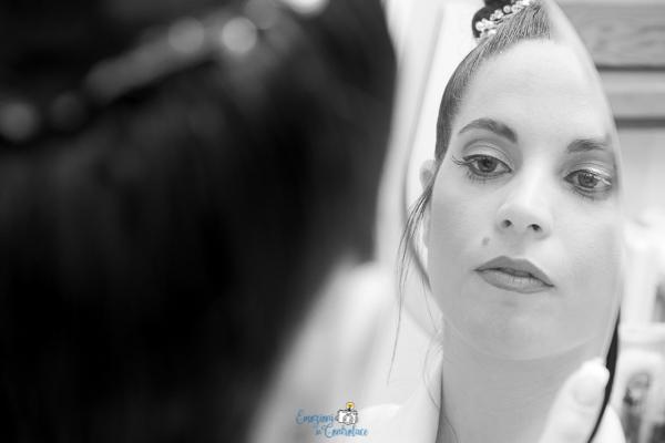 Dettagli della preparazione della sposa