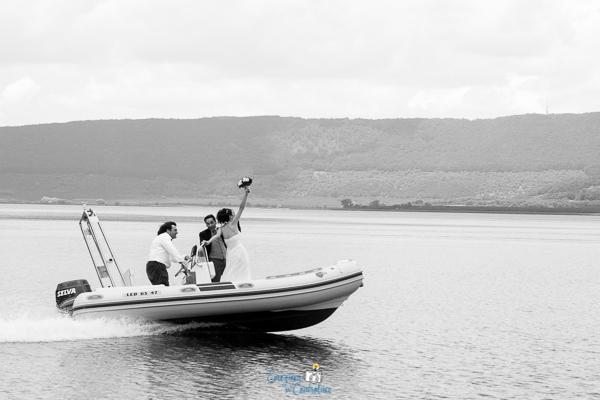 Arrivo degli sposi sul lago di Vico