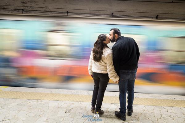 Servizio fotografico prematrimoniale - engagement session a Roma