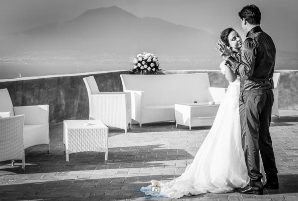 Ballo degli sposi in Costiera con il Vesuvio