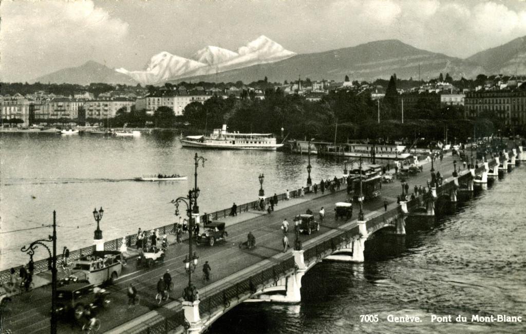 LE PONT DU MONT BLANC GENEVE 1936