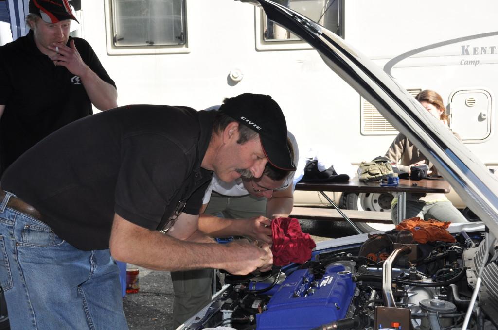 Defekt am Motor bei Markus Balmer