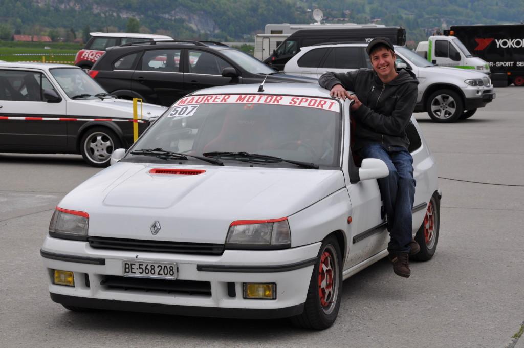 Marcel Maurers Clio, da war der Motor noch ganz... :-(
