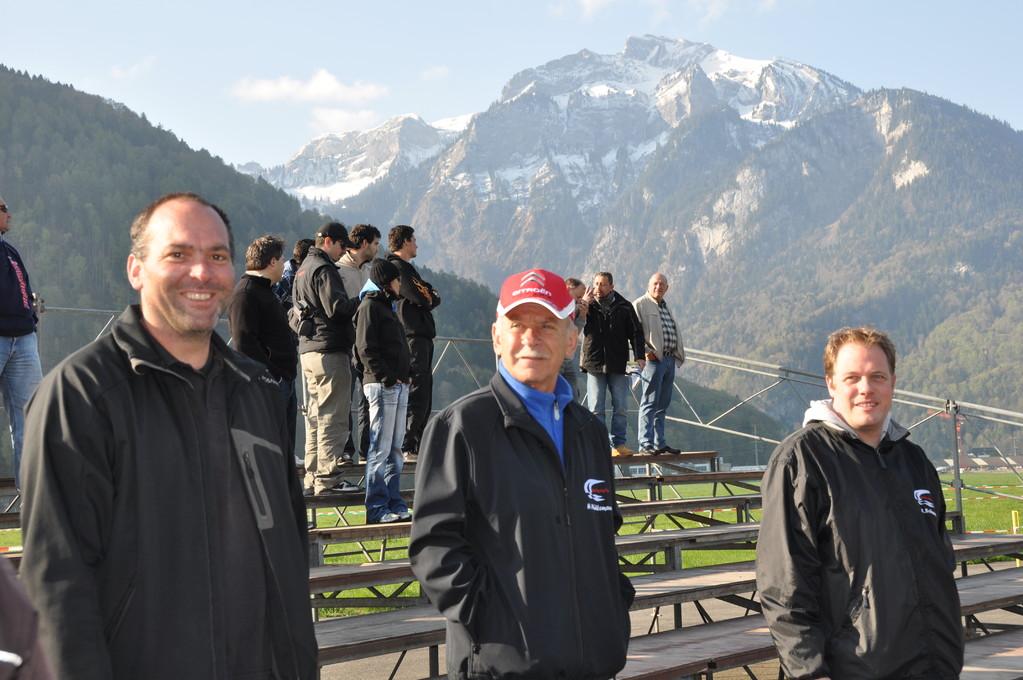 Marcel Bosshart, Heinz Mühlemann und Michael Schranz