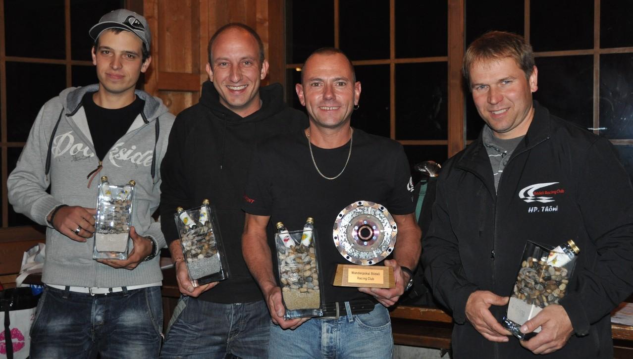 Marcel Maurer (5. Rang), Roger Mühlemann (2. Rang), Chrigel Balmer (Clubmeister) Hanspeter Thöni (4. Rang), es fehlt Heinz Mühlemann (3. Rang)