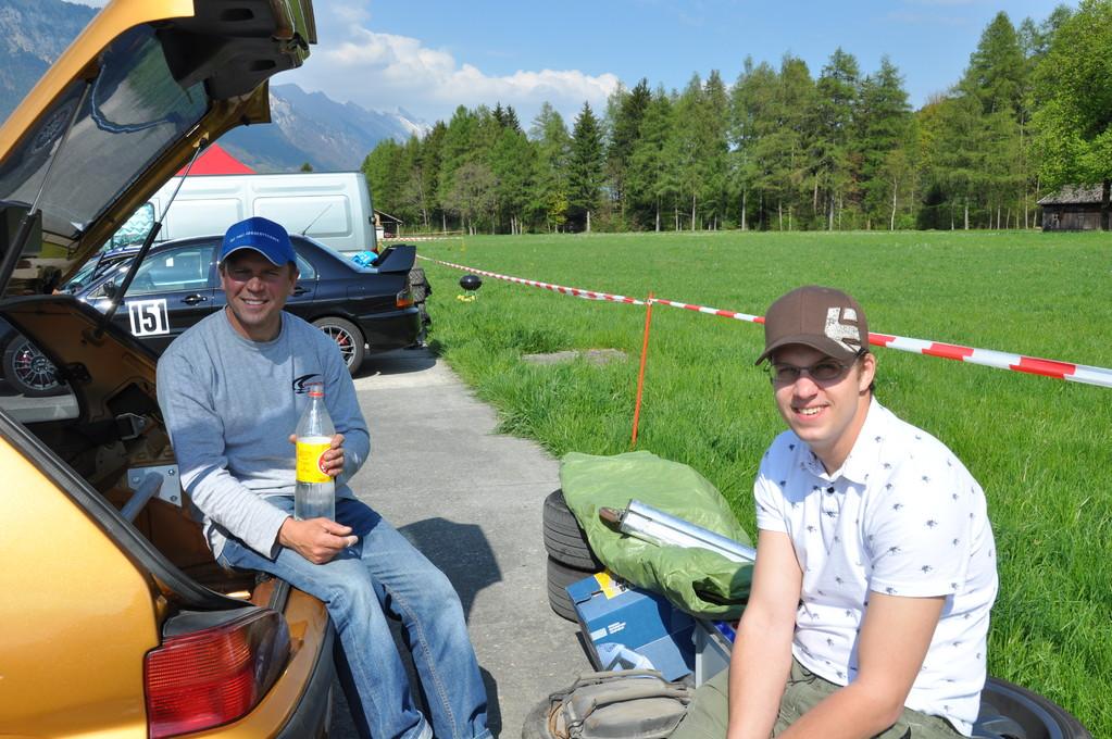 Hanspeter und Ueli vor dem Start