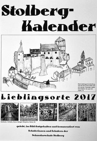 """Der erste Kalender der Sekundarschule führt die erfolgreiche Tradition der Hauptschule Kogelshäuserstraße fort und präsentiert """"Lieblingsorte in Stolberg"""". Foto: Dirk Müller"""