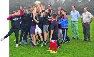 Stolbergs junge Fußballer sind immer noch ganz im Weltmeisterschaftsfieber. Foto: Stolberger Zeitung / Nachrichten