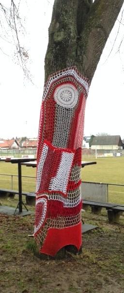 Projekt SC Pinkafeld Fußball URBAN KNITTINGn by Lin Tschi