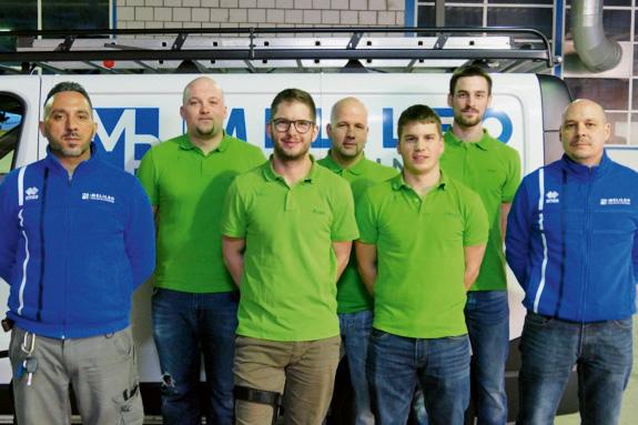 Massimo Urso (Spezialreinigungen), Olvier Proft (OK), Kevin Ries (OK), Fabian Müller (OK-Präsident), Daniel Gilgen (OK), Dario Rohrer (OK), Michael Güdemann (Geschäftsleiter MR Melileo Reinigungen).