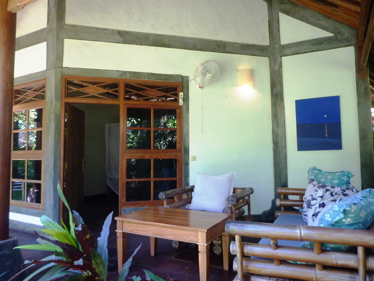 Veranda of the small bungalow