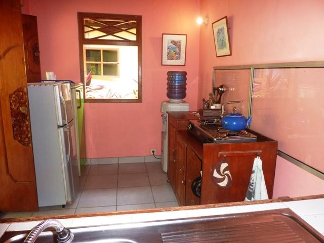 Each bungalow has its own fridge