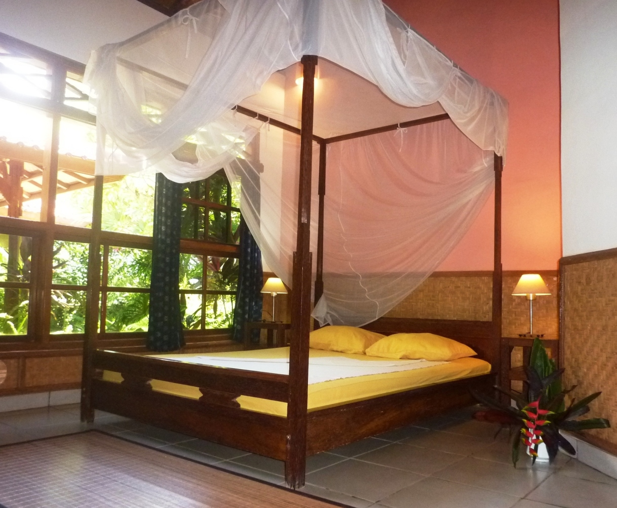 one of the two bedrooms with queen sized bed