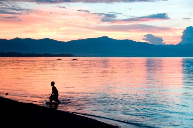 Around sunset at Lovina beach