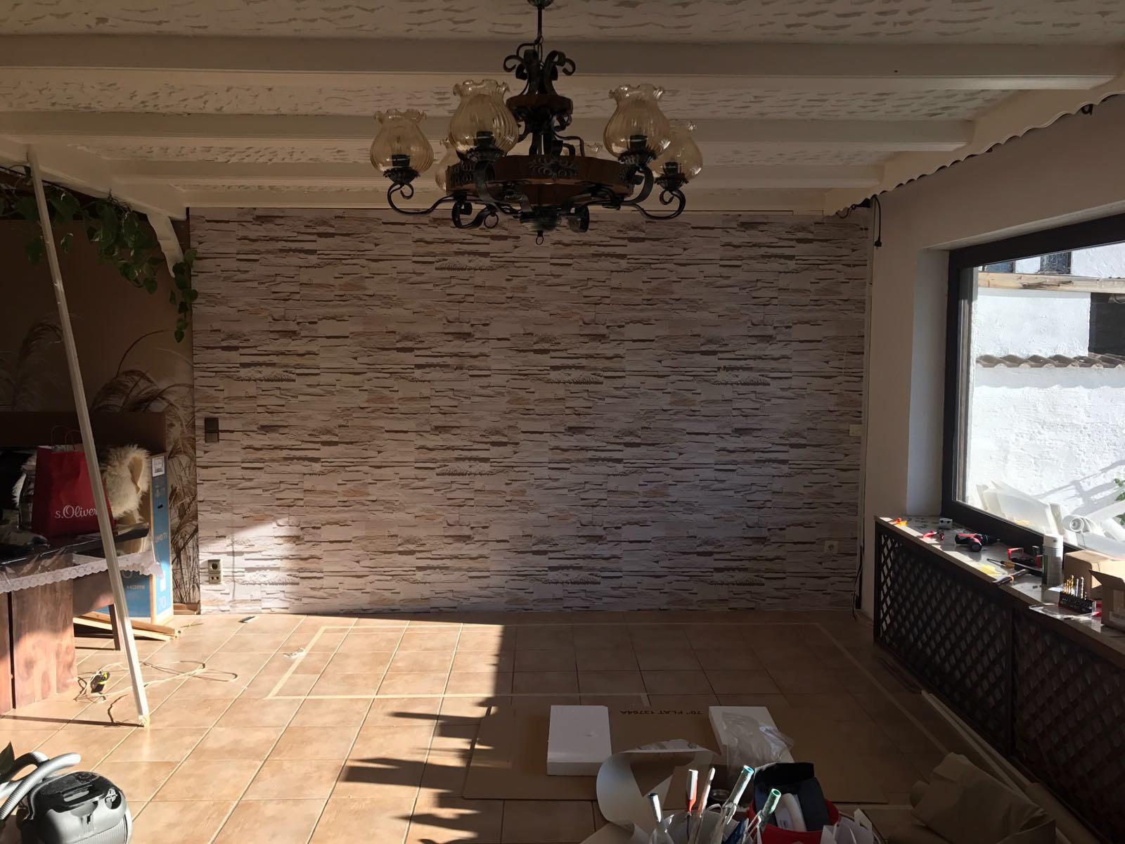 Wandfolierung Steinoptik
